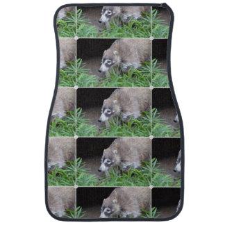 Prowling Coati Car Mat