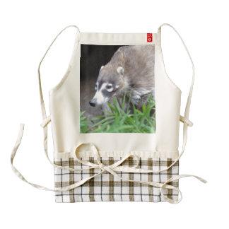 Prowling Coati Zazzle HEART Apron