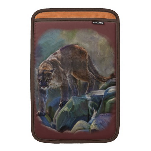Prowling Cougar Mountain Lion Art Design MacBook Air Sleeve