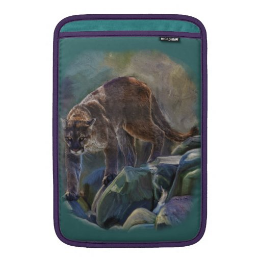 Prowling Cougar Mountain Lion Art Design Sleeves For MacBook Air