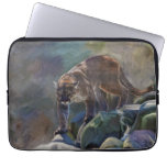 Prowling Cougar Mountain Lion Art Design Laptop Computer Sleeves