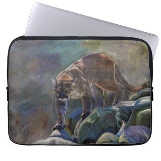 Prowling Cougar Mountain Lion Art Design Laptop Computer Sleeves
