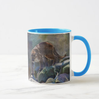 Prowling Cougar Mountain Lion Art Design Mug