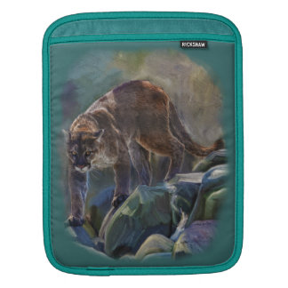 Prowling Cougar Mountain Lion Art Design Sleeve For iPads