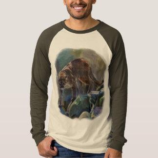 Prowling Cougar Mountain Lion Art Design Tee Shirt