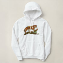 Prowling Leopard Embroidered Hoodie