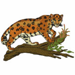Prowling Leopard Embroidered Polo Shirt