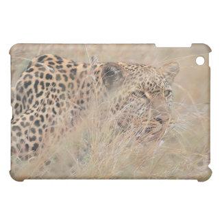 Prowling Leopard Hiding in Grassland iPad Mini Cases