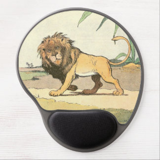 Prowling Lion Illustrated Gel Mouse Pad