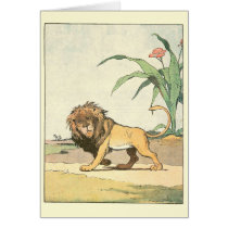 Prowling Lion Story Book Illustrated
