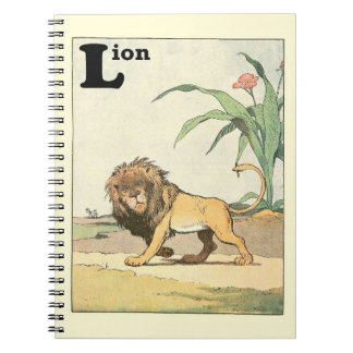 Prowling Lion Story Book Spiral Notebook