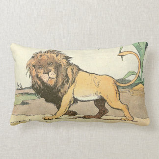 Prowling Lion Throw Pillows