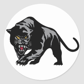Prowling Panther Classic Round Sticker