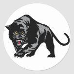 Prowling Panther Round Stickers