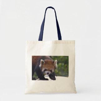 Prowling Red Panda Tote Bag