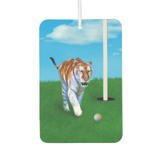 Prowling Tiger and Golf Ball Customizable Air Freshener