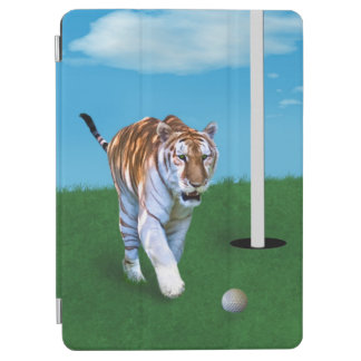 Prowling Tiger and Golf Ball Customizable iPad Air Cover