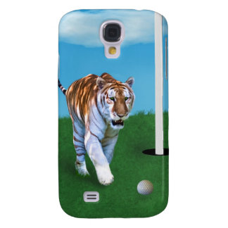 Prowling Tiger and Golf Ball Customizable Monogram Samsung S4 Case
