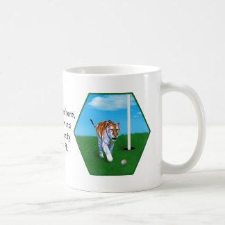 Prowling Tiger and Golf Ball Customizable Coffee Mug