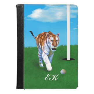 Prowling Tiger and Golf Ball, Monogram iPad Air Case