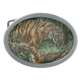 Prowling Tiger Belt Buckle