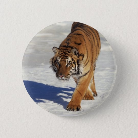 Prowling Tiger Button