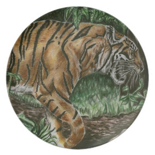 Prowling Tiger Plate