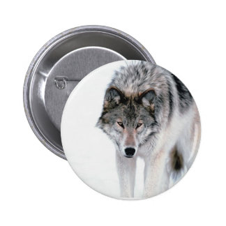 Prowling Wolf 2 Inch Round Button