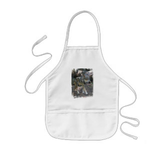 Prowling Wolf  Children's Apron