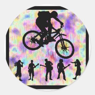 PRÓXIMO PASO de la bici Pegatina Redonda