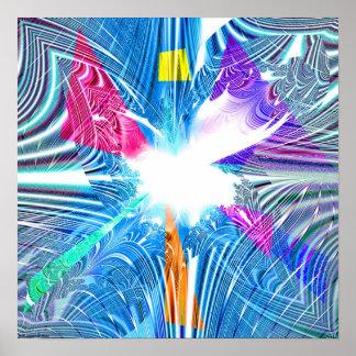Proyección 1.1h1 del fractal póster
