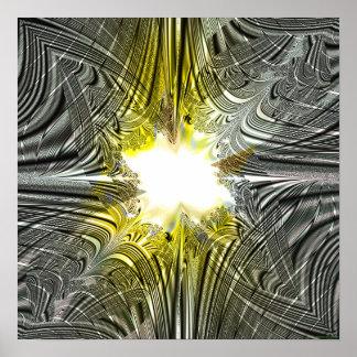 Proyección 1.1i del fractal poster