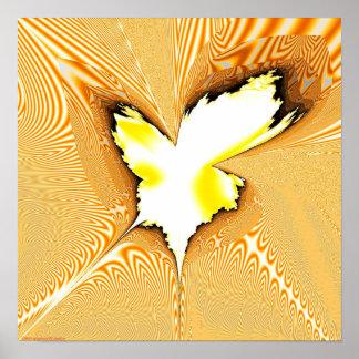 Proyección 1.4g del fractal poster