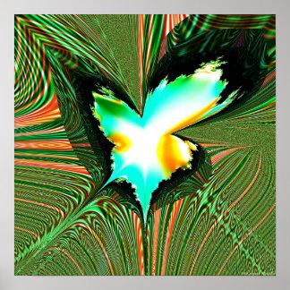 Proyección 1.4i3 del fractal póster