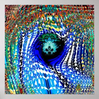Proyección 2.7a del fractal poster