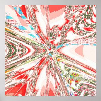 Proyección 3,2 del fractal póster