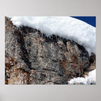 Proyección de la nieve póster