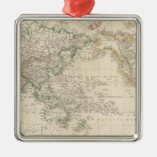 Proyección de Mercators del mundo Ornaments Para Arbol De Navidad