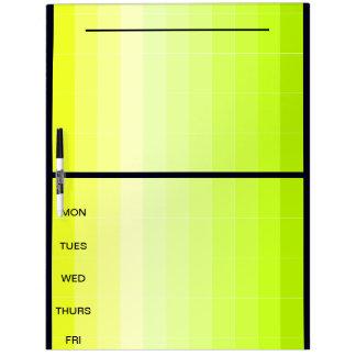 Proyecte los días del tablero 37b de la nota del pizarra