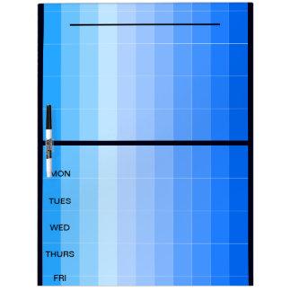 Proyecte los días del tablero 37i de la nota azul pizarra blanca