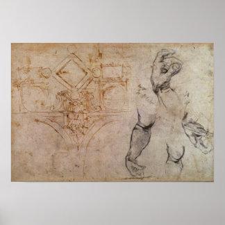 Proyecte para el techo de la capilla de Sistine, c Póster
