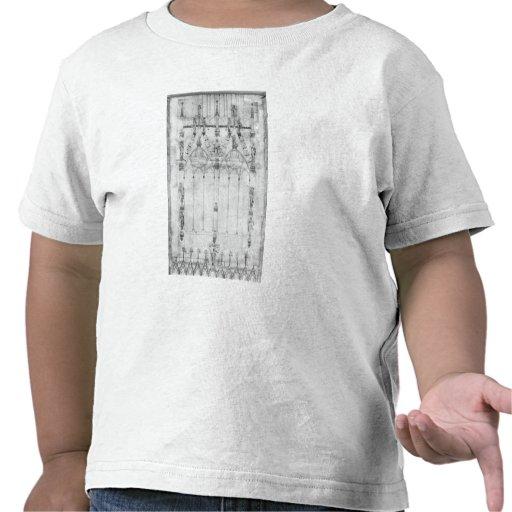 Proyecte para la catedral, elevación del oeste camisetas