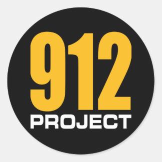 Proyecto 912 pegatina redonda