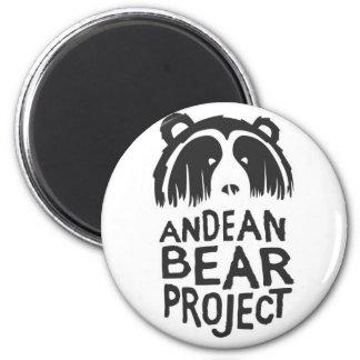 Proyecto andino del oso imán redondo 5 cm
