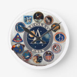 Proyecto Apolo: El logotipo compuesto Reloj Redondo Mediano