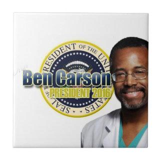 Proyecto Ben Carson para el presidente Azulejo Cuadrado Pequeño