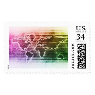 Proyecto de investigación global de la ciencia timbre postal