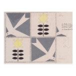 Proyecto de Koloman Moser- de la decoración de los Tarjeta Postal