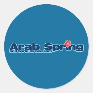Proyecto de la caridad: Primavera del árabe de la Pegatina Redonda
