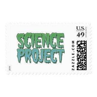 Proyecto de la ciencia timbres postales